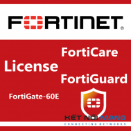 Bản quyền phần mềm 1 Year HW bundle Upgrade to 24x7 from 8x5 FortiCare Contract for FortiGate-60E