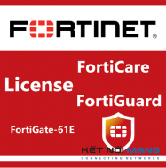 Bản quyền phần mềm 1 Year 24x7 FortiCare Contract for FortiGate-61E
