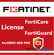 Bản quyền phần mềm 1 Year HW bundle Upgrade to 24x7 from 8x5 FortiCare Contract for FortiWiFi-60D-POE