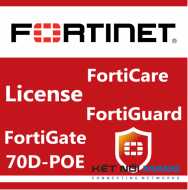 Bản quyền phần mềm 1 Year Upgrade FortiCare Contract to 360 from 24x7 for FortiGate-70D-POE