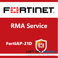 1 Year 4-Hour Hardware Delivery Premium RMA Service (requires 24x7 support) for FortiAP-21D