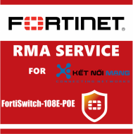 1 year 4-Hour Hardware and Onsite Engineer Premium RMA Service for FortiSwitch 108E-POE