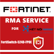 1 year Next Day Delivery Premium RMA Service for FortiSwitch 524D-FPOE