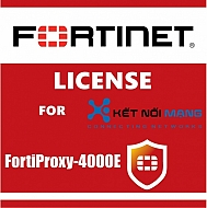 Bản quyền phầm mềm 1 Year Content Analysis Service. 500 User license (Minimum order 20 and up to 100) for FortiProxy-4000E
